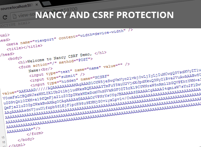 Enable CSRF Protection in Nancy